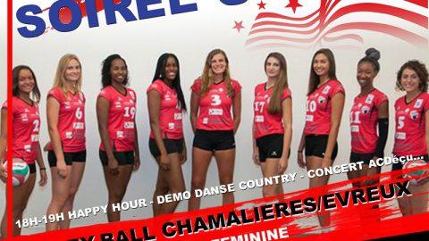 Volley US Party: Chamalières/Evreux + Concert ACDECU