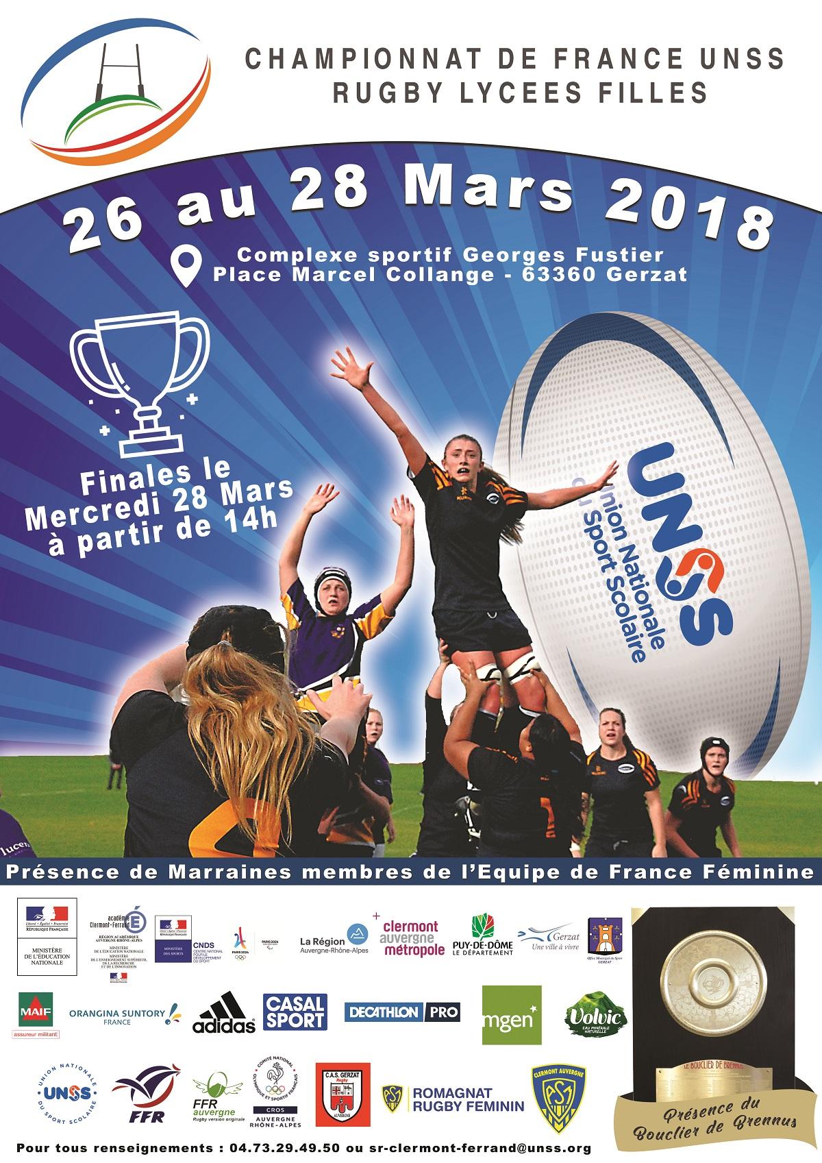 Championnat de France UNSS de rugby lycées filles à Gerzat