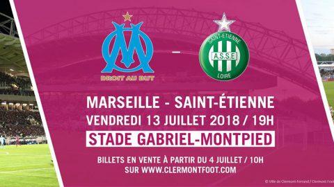 Affiche de gala entre l'OM et l'ASSE à Clermont-Ferrand