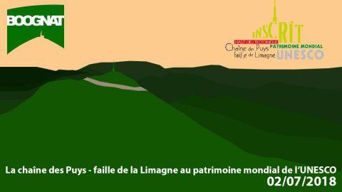 Le haut lieu tectonique Chaîne des Puys-faille de la Limagne inscrit au patrimoine mondial de l'UNESCO